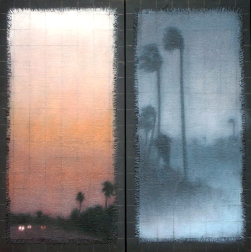 "Affinity/Duo/Palms, 2 paintings of 16""x8""/ea."