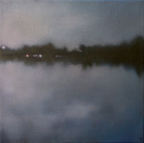 "Evening Shoreline, 12""X12"", $1,300. (ASFA)"