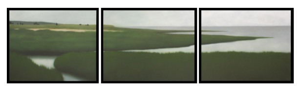 """Ongoingness of Summer, 3 panels of 24""""X30""""/ea., $9,000. (GG)"""