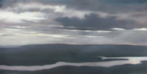 "Overlook Summit View, 24""X48""."