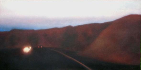 "Red Line, 24""48"", $5,000. (CVB, Solera)"