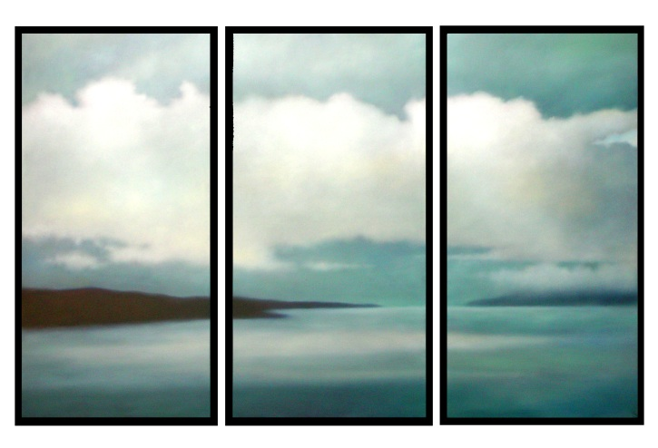 """Silent Sound, 3 panels of 48""""X24""""/ea. $12,000 (GG)"""