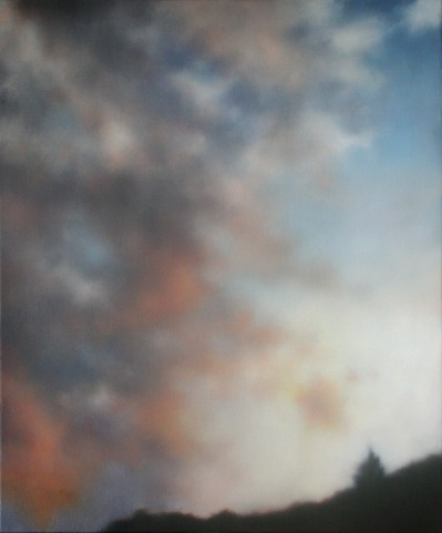 "Sky in Motion, 24""X20"", $2,800. (GG)"