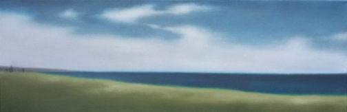 """Unreservedly Summer, 10""""X30"""", 2013, $2,000."""