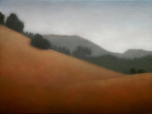 "High Mountain Meadow, Oil on linen, 20""X24""."