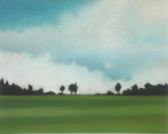 "Summer Trees, 16""X20"", $1,600 (uf). (JSO)"