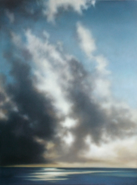 """Diagonal Cloudbank"", 48""x36"", 2012."