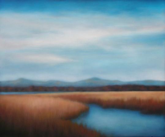 "Brilliant River Marsh, 30""x36""."