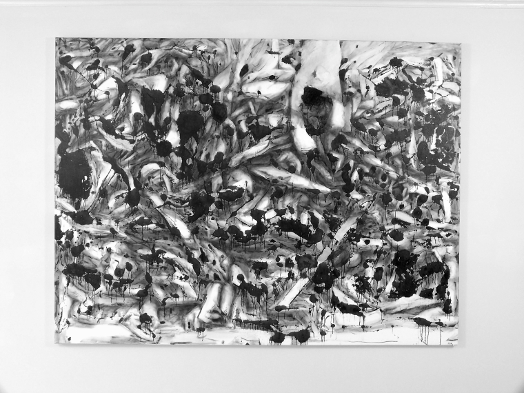 "Mark Thomas Kanter, ""Polytropos"" Oil on Canvas, 72"" X 96"" 2011"