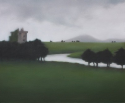 "Cloud over Castle Deel, 30""X36""."
