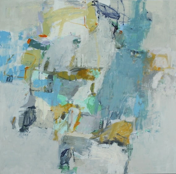 """Jenny Nelson, """"Traveling Light"""", 48""""x48"""", 2013."""