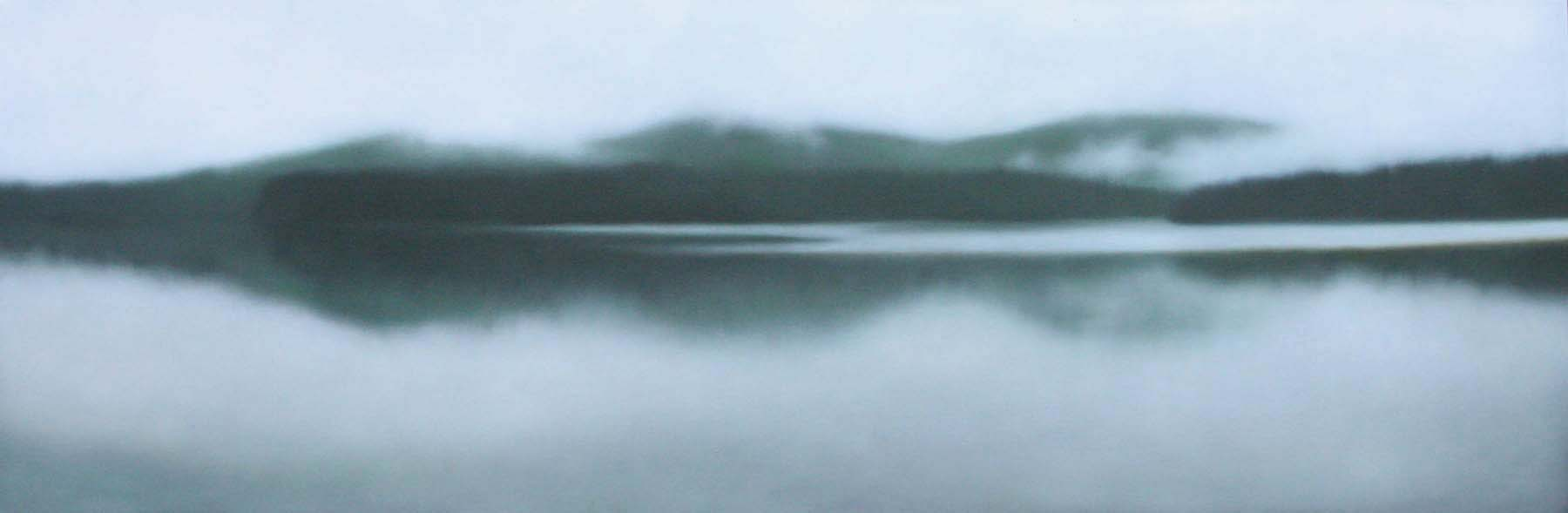 """Still Waters"", 20""x60"", studio sale/Albert Shahinian Fine Art."