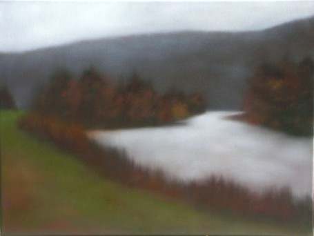 "When Autumn Glowed Softly, 24""x30"", sold through Albert Shahinian Fine Art."