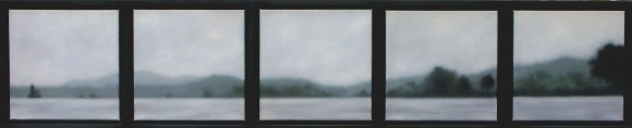 """River in 5, 5 panels of 10""""x10""""/ea."""