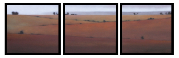 Triptych in Reds