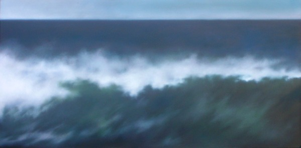 "Wave, 24""x48"", sold by Van Ward Gallery."