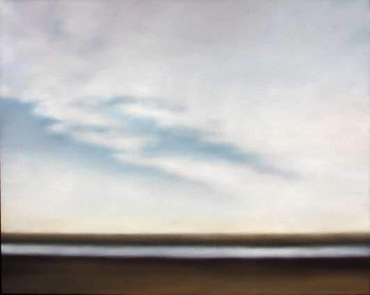 "Sandflats with Cloudbank, 40""x50"""