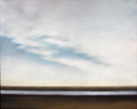 "Sandflats with Cloudbank, 40""x50"""