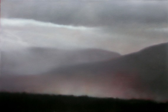 "Glowing Mountain Mists, 20""X30"", 2012."