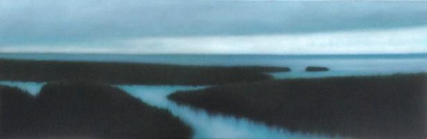 """""""Blue Light"""", 20""""x60"""", 2014."""