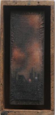 """Factory at Work"", 7>5""x3.5"" (courtesy Julie Heller Gallery)."