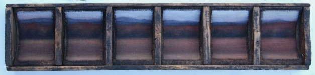 """Mountain Fall in 6, 5""x18"" (courtesy Albert Shahinian Fine Art)."