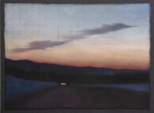 "Affinity/Winter Sunset, 36""x48"", $6,500."