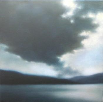 "Cloud over Shoreline, 12""X12""."