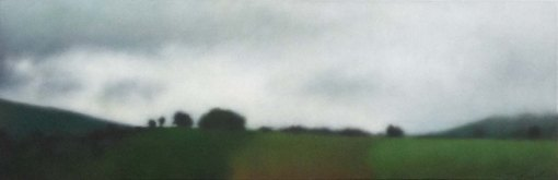 "Mists from Palmer Hill, 12""X36"", 2014."