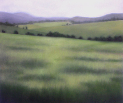 """Soft Summer Greens"", 30""X36"", 2012."