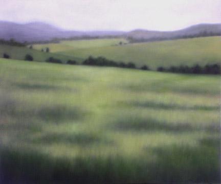 """""""Soft Summer Greens"""", 30""""X36"""", 2012."""