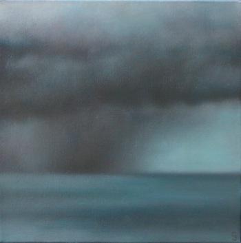 """Stormy Sea, 12""""X12""""."""