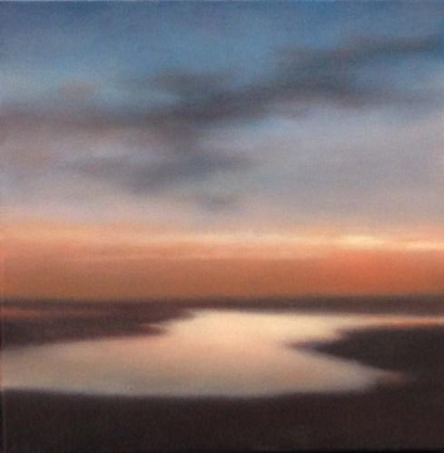 "Sunlit Sandflats, 12""X12"", 2014."