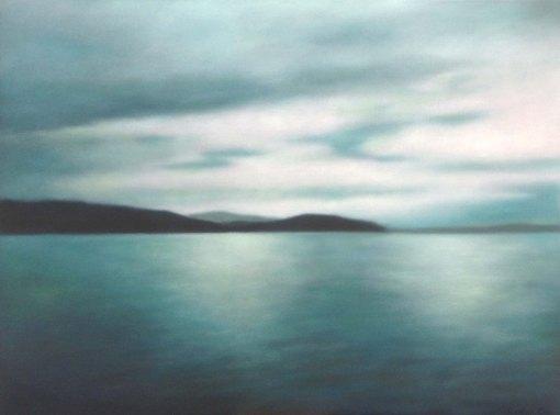"""Turquoise Light"" , 30""x40"", 2014."