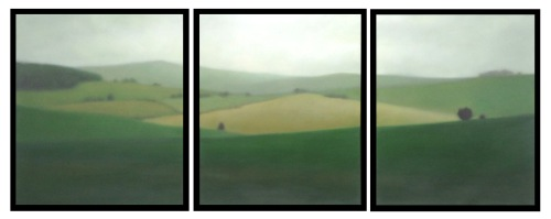 """Hill beyond Hill, 3 panels of 24""x20""/ea."