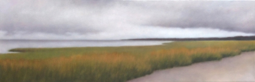 """Lifting Rain, 20""x60"". Sold by Louisa Gould Gallery."