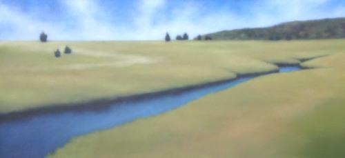 """Menemsha Creek"", 32""x68""."