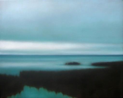 """Counterlight BLues, 16""x20"". Sold by Albert Shahinian Fine Art."