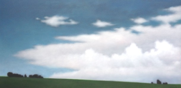 """Endless Sky"", 36""x72"", oil on linen."