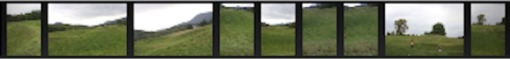 Screen shot of a number of photos that my son Tony took of Maya Lin's Wavefield.
