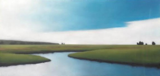 """""""Saltmarsh in August"""", headed soon to it's hone on Martha's Vineyard, commissioned through the Louisa Gould Gallery."""
