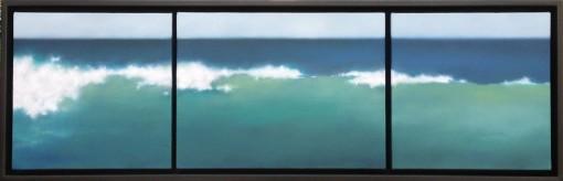 """""""Blue/GreenSea"""", 3 panels of 12""""x12""""; 12""""x16""""; & 12""""x12"""""""