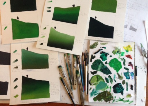 Day #2, working with color (those touchy greens!)