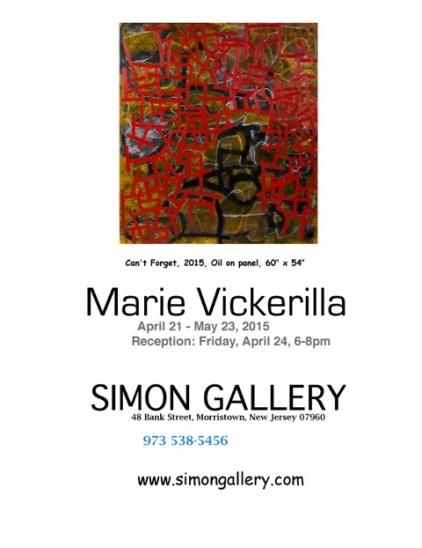Inviation for MArie Vickerillas show.