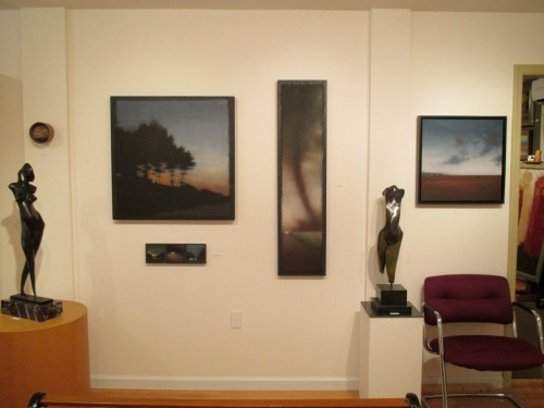 Installation shot, wall with Affinities.