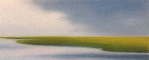 "Study/Summer Marsh, 5""x12""."