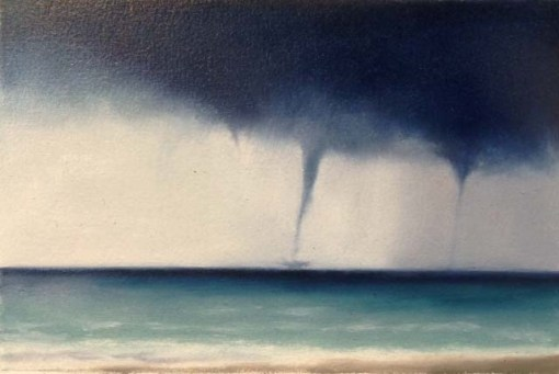 "Study/Waterspouts, 6""x9""."