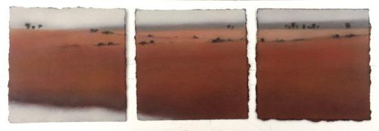 Study/Triptych in Reds