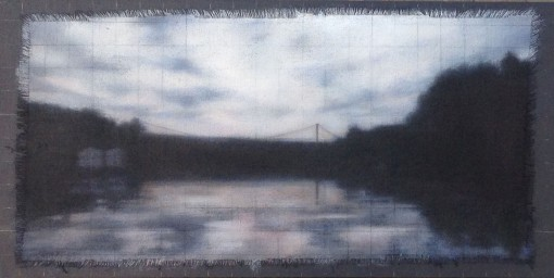 "Affinity/Return at Dusk, 12""x24""."