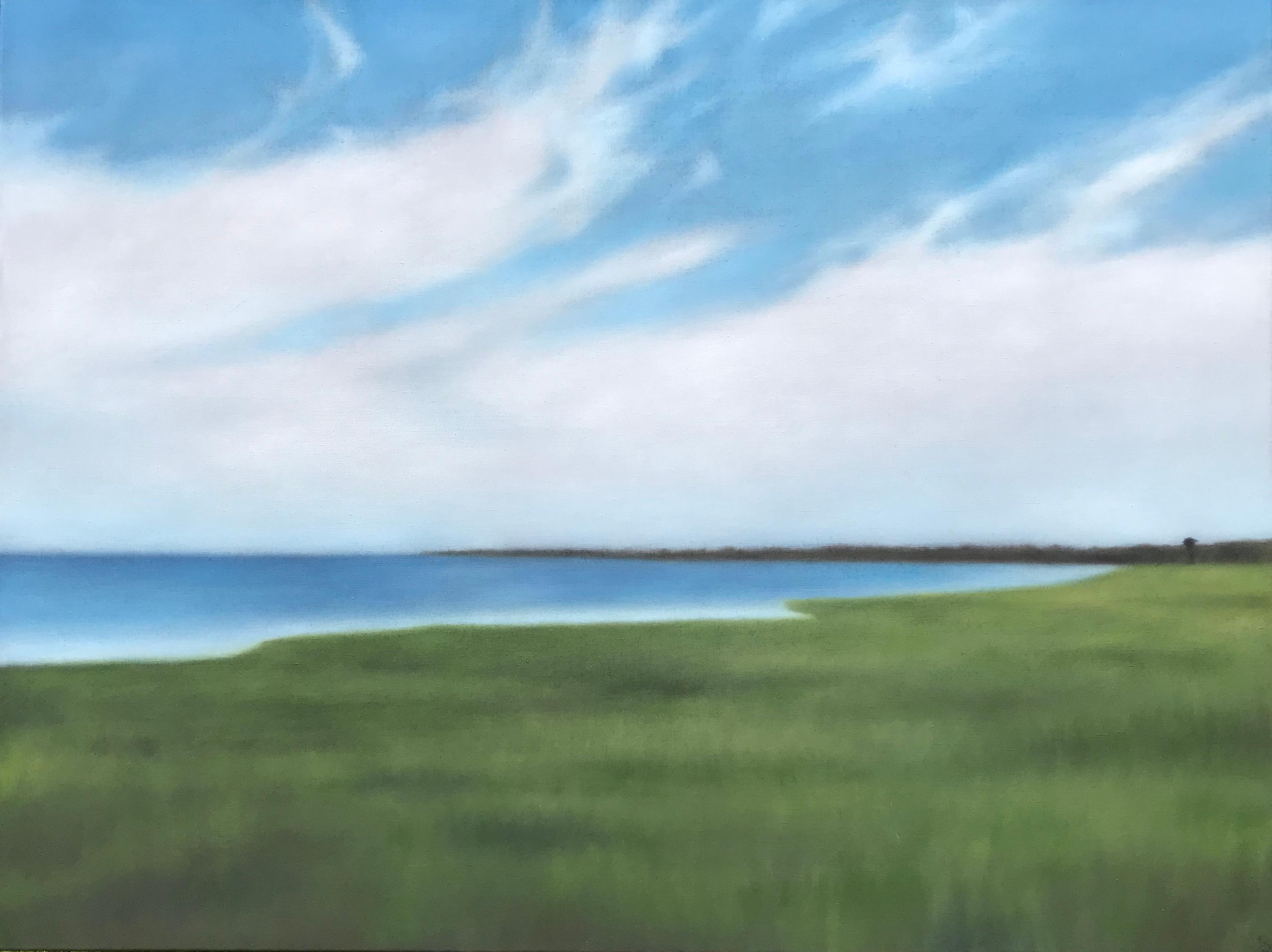 HarborinBlueGreen36x48